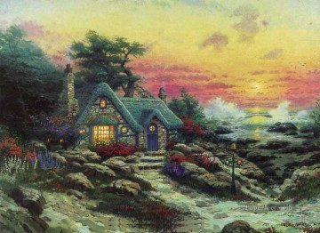 by Works - Cottage By The Sea Thomas Kinkade scenery