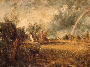 Cottage Rainbow Mill Romantic landscape John Constable Oil Paintings