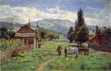 indiana - Cumberland Mountains Impressionist Indiana landscapes Theodore Clement Steele