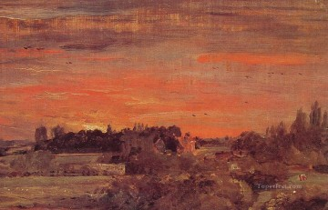 East Bergholt Rectory Romantic landscape John Constable Oil Paintings