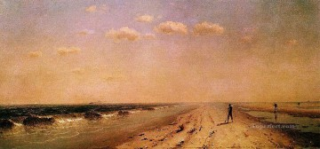 on canvas - Fire Island Beach scenery Sanford Robinson Gifford