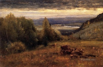 tonalism tonalist Painting - From the Sawangunk Mountains landscape Tonalist George Inness