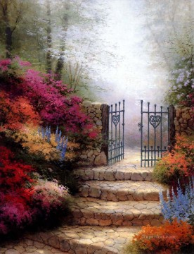 Plain Scenes Painting - Garden Of Promise Thomas Kinkade scenery