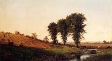 Haying Alfred Thompson Bricher Oil Paintings
