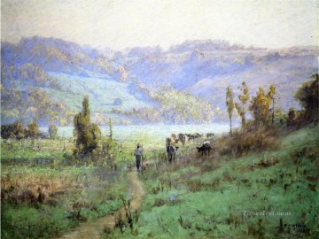 Indiana Painting - In the Whitewater Valley near Metamora Impressionist Indiana landscapes Theodore Clement Steele scenery