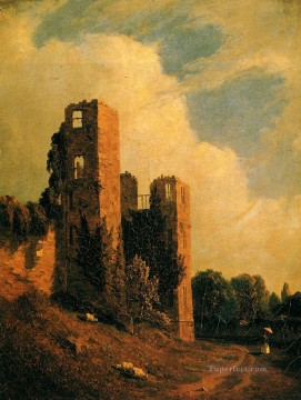 Kenilworth Castle scenery Sanford Robinson Gifford Oil Paintings