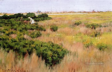 Landscape near Coney Island impressionism William Merritt Chase Oil Paintings