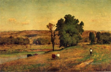 Landscape with Figure Tonalist George Inness Oil Paintings