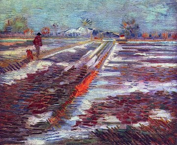 Landscape with Snow Vincent van Gogh Oil Paintings