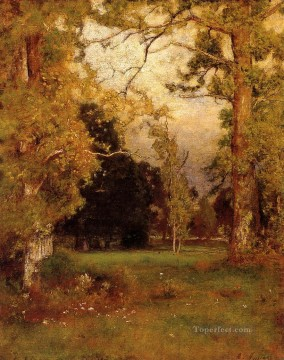 Plain Scenes Painting - Late Afternoon landscape Tonalist George Inness