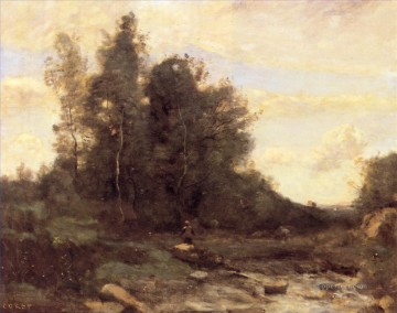 Pierre Works - Le torrent pierreaux Jean Baptiste Camille Corot