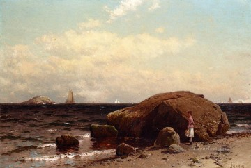 Alfred Canvas - Looking out to Sea modern beachside Alfred Thompson Bricher scenery