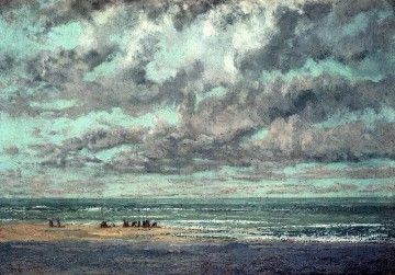 Marine Les Equilleurs Realism Gustave Courbet scenery Oil Paintings