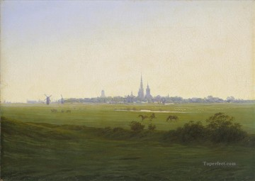 Meadow Art - Meadows Near Greifswald Romantic landscape Caspar David Friedrich