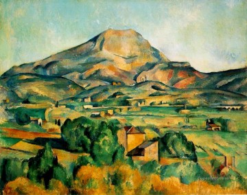 1895 Works - Mont Sainte Victoire 1895 Paul Cezanne scenery