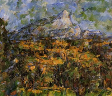 Sainte Painting - Mont Sainte Victoire Seen from les Lauves Paul Cezanne scenery