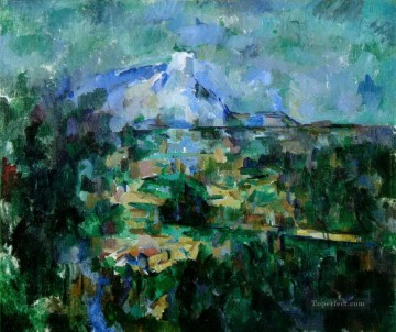 Sainte Painting - Montagne Sainte Victoire from Lauves Paul Cezanne scenery