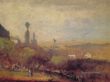 Monte Lucia Perugia landscape Tonalist George Inness Oil Paintings