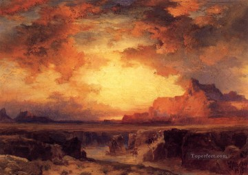 new orleans Painting - Near Fort Wingate New Mexico landscape Thomas Moran
