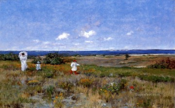 Near the Beach Shinnecock impressionism William Merritt Chase scenery Oil Paintings