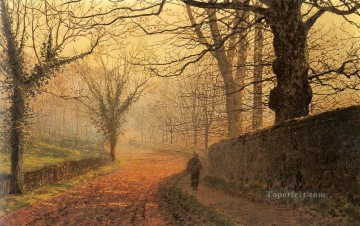 november Deco Art - November Afternoon Stapleton Park city scenes landscape John Atkinson Grimshaw