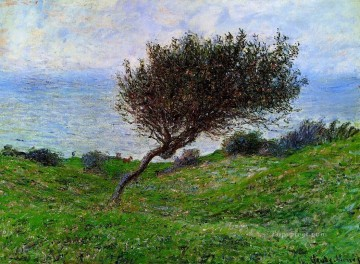 Coast Painting - On the Coast at Trouville Claude Monet scenery