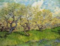 Orchard in Blossom 3 Vincent van Gogh scenery