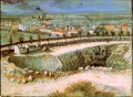 Outskirts of Paris near Montmartre 2 Vincent van Gogh scenery