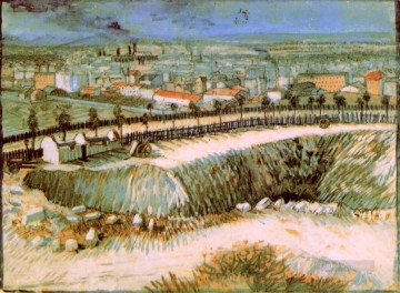 Paris Art - Outskirts of Paris near Montmartre 2 Vincent van Gogh scenery