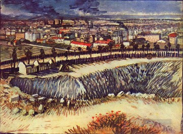 Paris Art - Outskirts of Paris near Montmartre Vincent van Gogh scenery