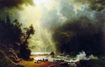 Coast Painting - Pugest Sount on the Pacific Coast Albert Bierstadt