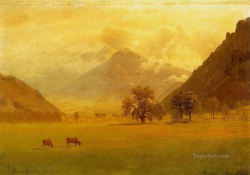 Rhone Valley Albert Bierstadt Oil Paintings