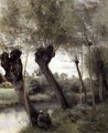 Saint Nicholas les Arras Willows on the Banks of the Scarpe Jean Baptiste Camille Corot