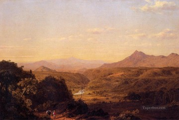 Scene among the Andes scenery Hudson River Frederic Edwin Church Oil Paintings