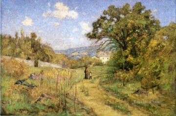 Steele Art - September Theodore Clement Steele 1892 Impressionist Indiana landscapes Theodore Clement Steele scenery