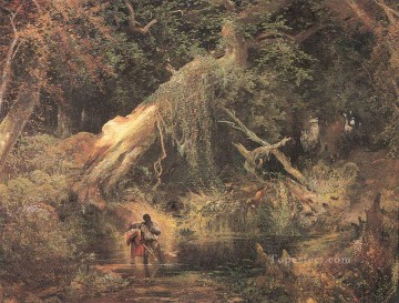 Slaves Escaping Through the Swamp landscape Thomas Moran Oil Paintings