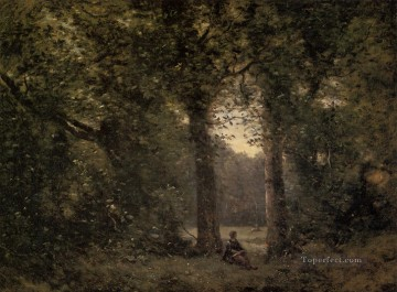 Souvenir of Ville dAvray Jean Baptiste Camille Corot Oil Paintings