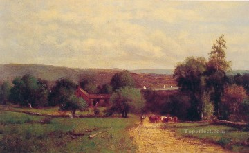 Spring landscape Tonalist George Inness Oil Paintings
