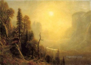 Yosemite Art - Study for Yosemite Valley Glacier Point Trail Albert Bierstadt scenery