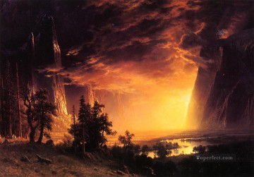 Yosemite Art - Sunset in the Yosemite Valley Albert Bierstadt