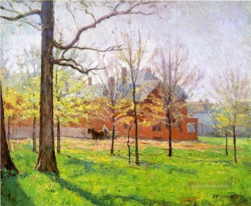 Talbott Place Impressionist Indiana landscapes Theodore Clement Steele Oil Paintings