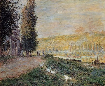 mornings on the seine monet Painting - The Banks of the Seine Lavacour Claude Monet scenery