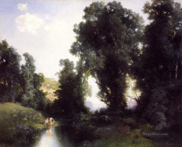 The Bathing Hole Cuernavaca Mexico landscape Thomas Moran Oil Paintings