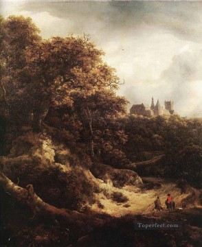 The Castle At Bentheim landscape Jacob Isaakszoon van Ruisdael Oil Paintings
