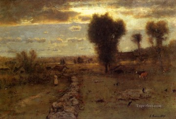 The Clouded Sun landscape Tonalist George Inness Oil Paintings