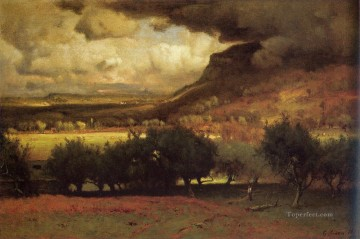 Plain Scenes Painting - The Coming Storm 1878 landscape Tonalist George Inness
