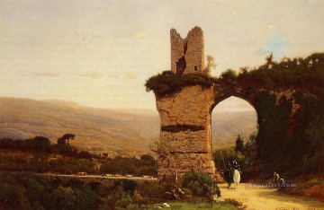 Inness Canvas - The Commencement of the Galleria aka Rome the Appian Way landscape Tonalist George Inness scenery