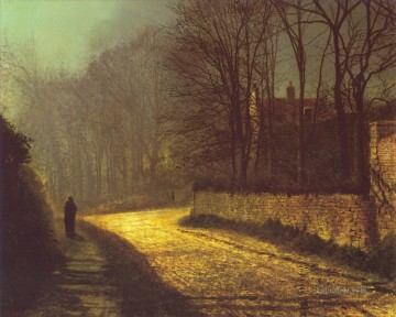 lovers Art - The Lovers city scenes landscape John Atkinson Grimshaw