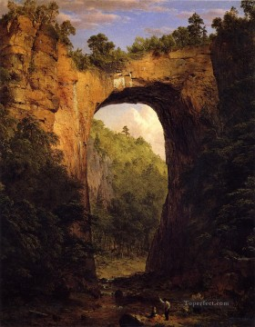 Virgin Painting - The Natural Bridge Virginia scenery Hudson River Frederic Edwin Church