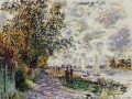 The Riverbank at Petit Gennevilliers Claude Monet scenery